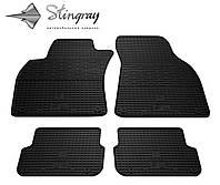 Резиновые коврики Stingray Стингрей Ауди A6 (С6) 2004-2011 Комплект из 4-х ковриков Черный в салон