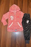Велюровые Спортивные  костюмы двойки для девочек.Размеры 98-128 см .Фирма GRACE .Венгрия