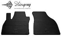 Резиновые коврики Ауди А4 (В6) 2000- Комплект из 2-х ковриков Черный в салон