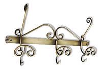 Вешалка для одежды настенная металлическая «Колорит»