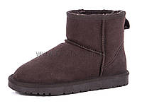 Угги женские (36-41) Restime YWZ17179 brown-cow-suede(18.9$)