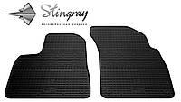Резиновые коврики Stingray Стингрей Ауди КУ7 2015- Комплект из 2-х ковриков Черный в салон