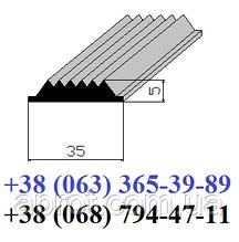 Гумова вставка в протиковзкі накладки 35х5 мм