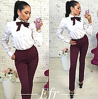 Женские классические брюки+галстук