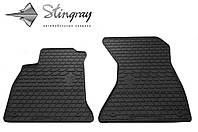 Резиновые коврики Ауди А4 (В9) 2015- Комплект из 2-х ковриков Черный в салон