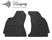 Резиновые коврики Stingray Стингрей Ауди А4 (В5) 1995- Комплект из 2-х ковриков Черный в салон
