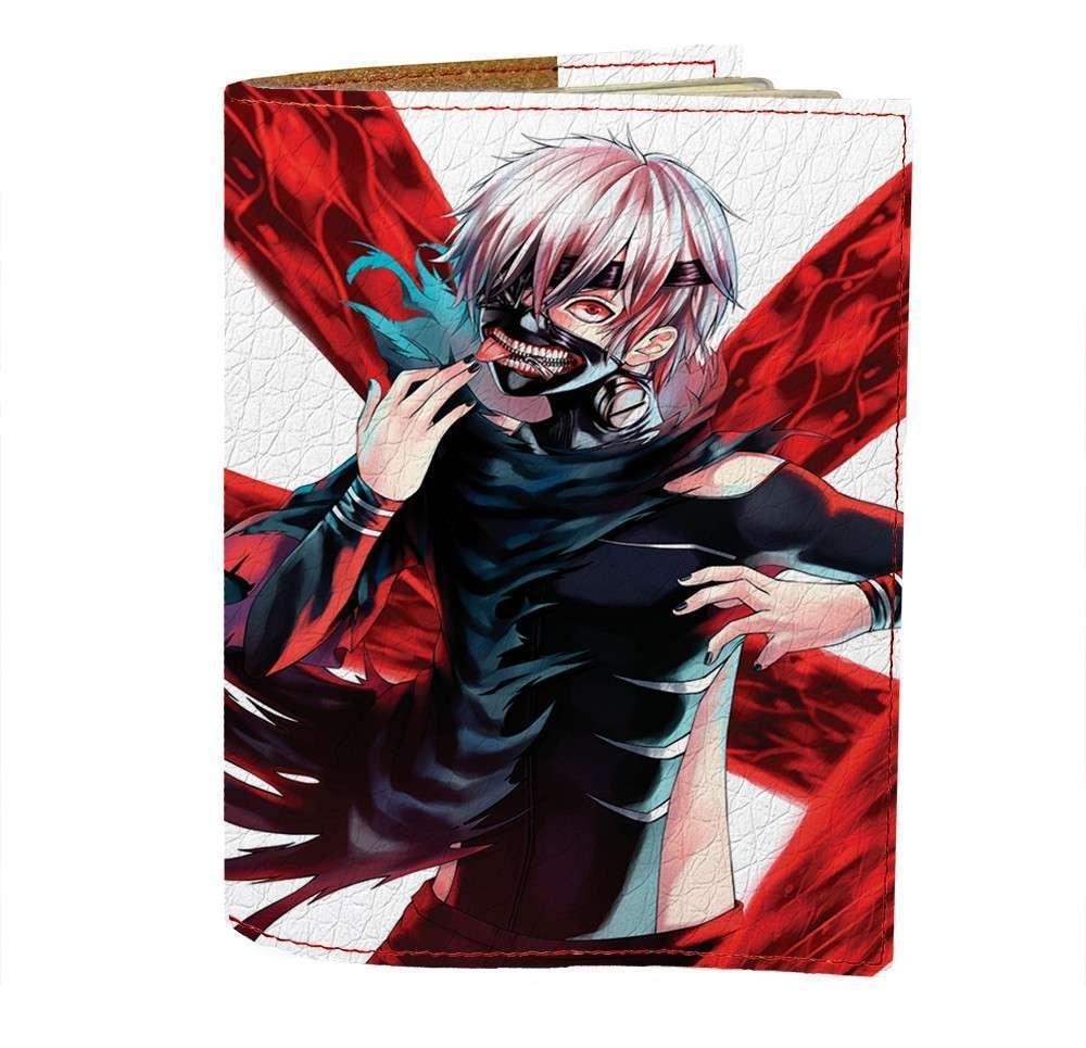 Обложка на паспорт v.1.0. Fisher Gifts 422 Tokyo Ghoul 8 (эко-кожа)