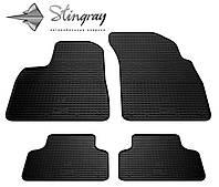 Резиновые коврики Stingray Стингрей Ауди КУ7 2015- Комплект из 4-х ковриков Черный в салон