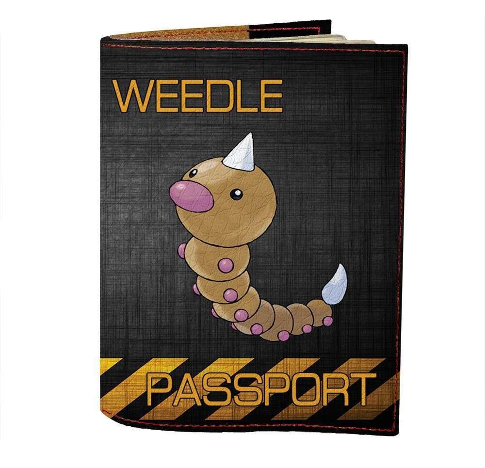 Обложка на паспорт v.1.0. Fisher Gifts 474 Weedle (эко-кожа)