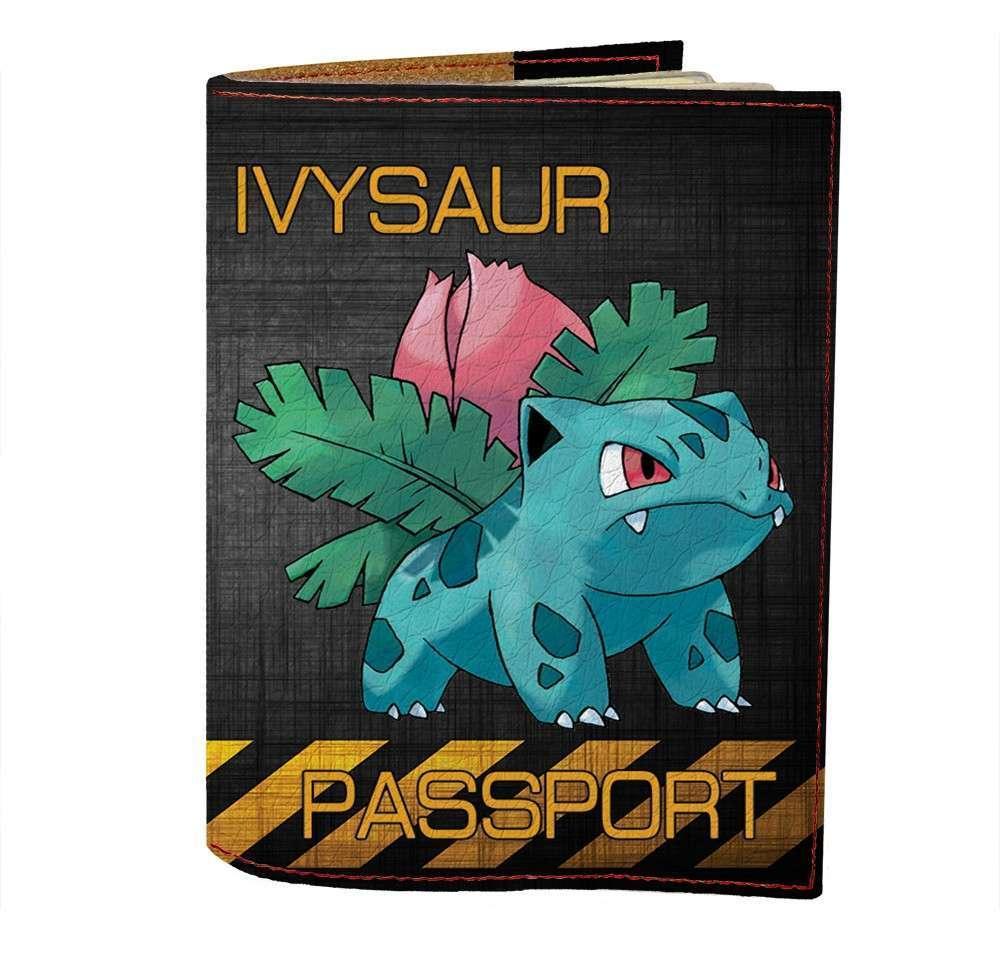 Обложка на паспорт Fisher Gifts 471 Ivysaur (эко-кожа)