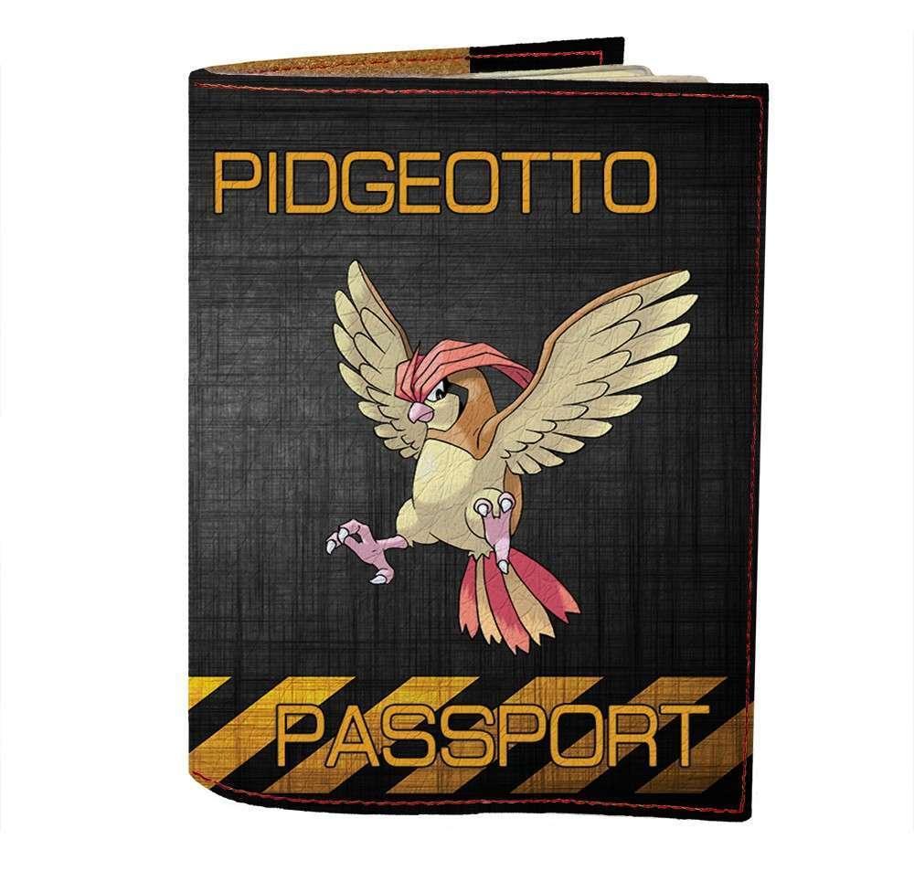 Обложка на паспорт Fisher Gifts 476 Pidgeotto (эко-кожа)