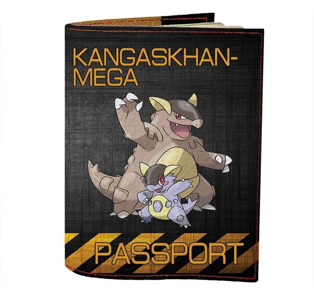 Обложка на паспорт Fisher Gifts 478 Kangaskhan-Mega (эко-кожа)