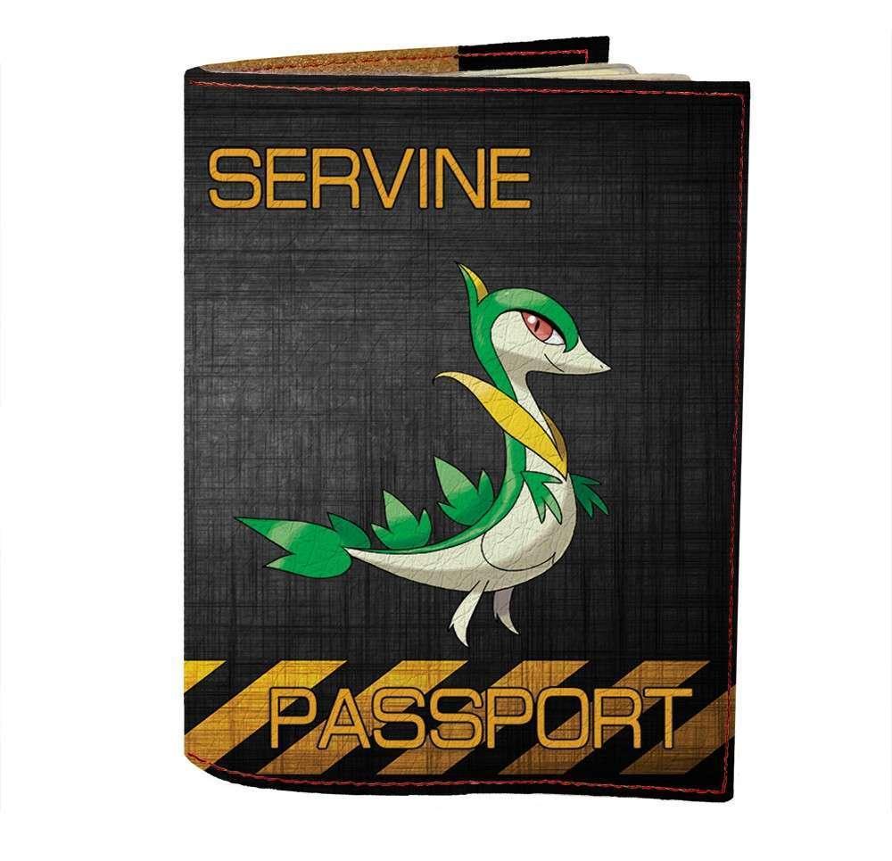 Обложка на паспорт v.1.0. Fisher Gifts 491 Servine (эко-кожа)