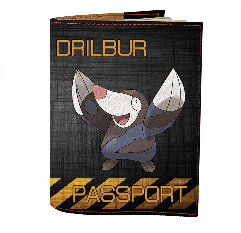 Обложка на паспорт v.1.0. Fisher Gifts 493 Drilbur (эко-кожа)