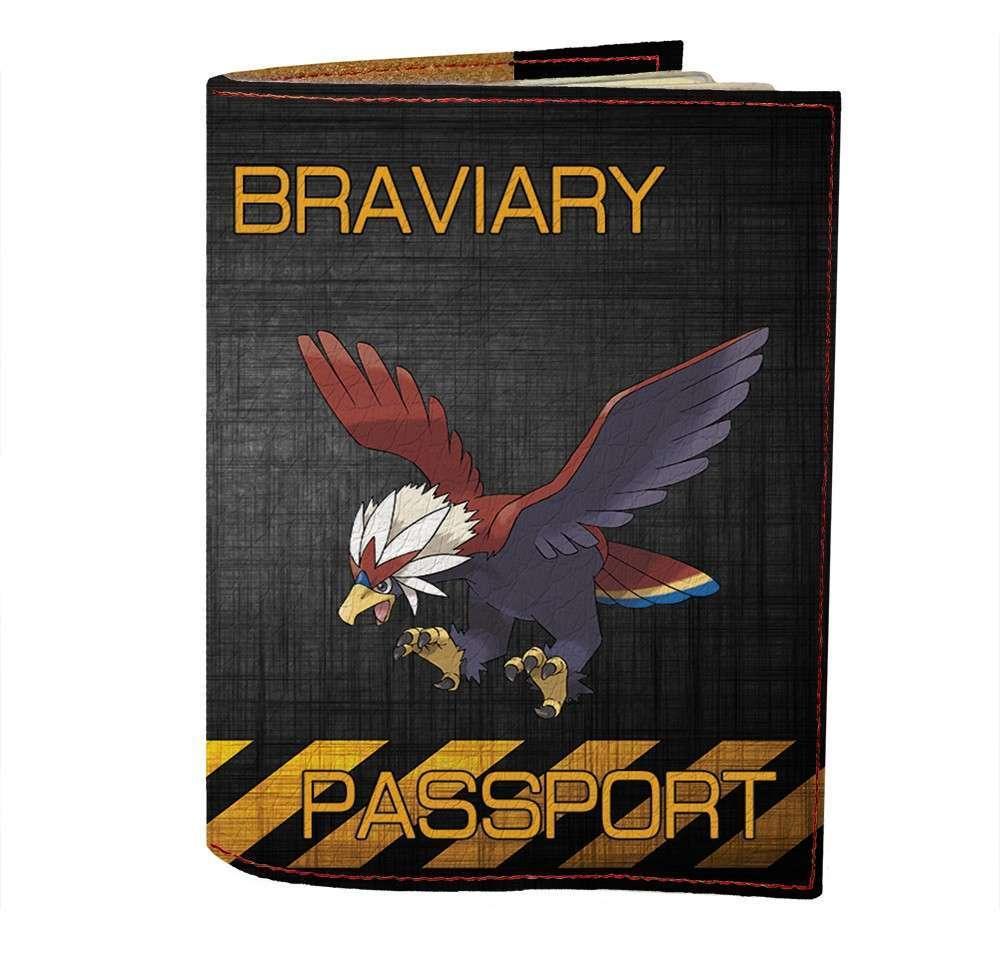 Обложка на паспорт v.1.0. Fisher Gifts 497 Braviary (эко-кожа)