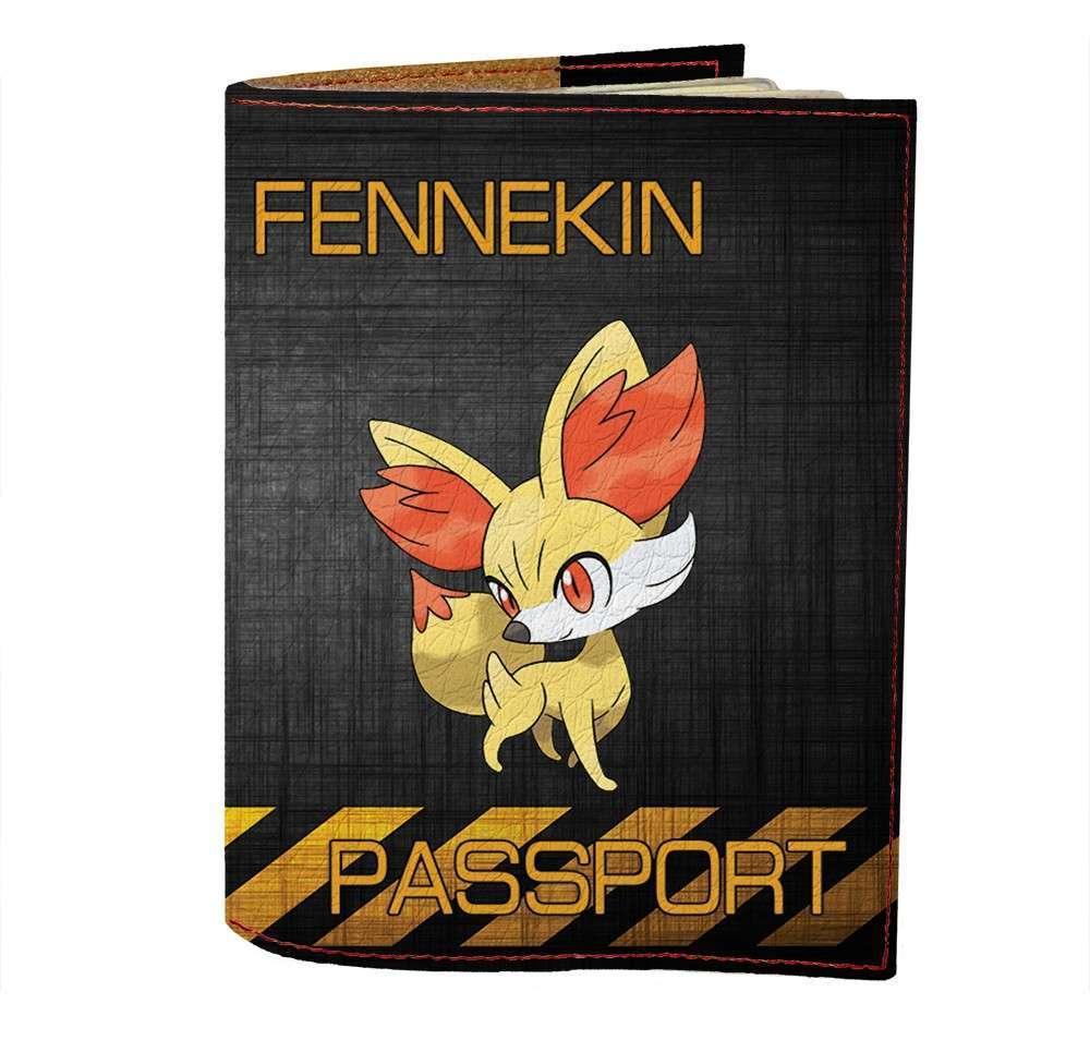 Обложка на паспорт v.1.0. Fisher Gifts 500 Fennekin (эко-кожа)