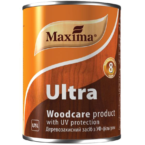 Деревозащитное средство алкидное с УФ-фильтром Maxima, калужница (сосна) 0,75 л