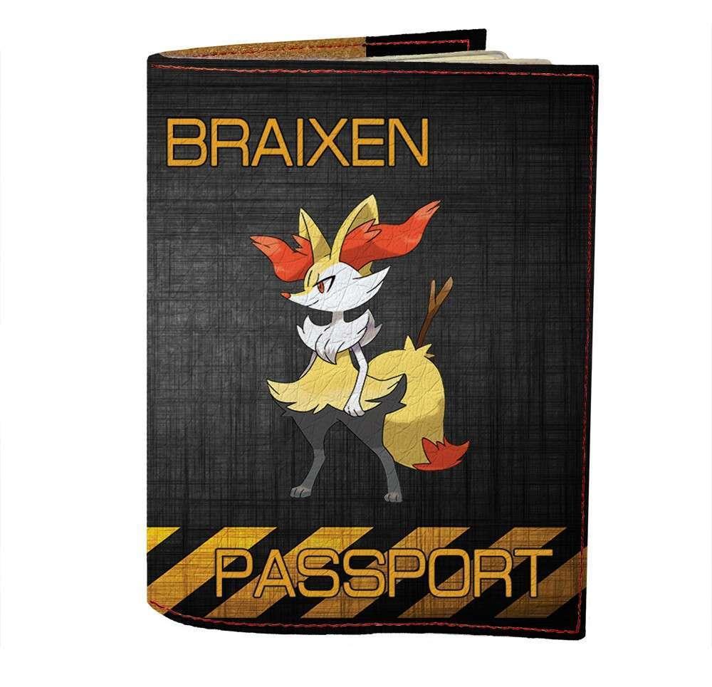 Обложка на паспорт Fisher Gifts 501 Braixen (эко-кожа)