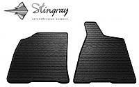 Резиновые коврики Stingray Стингрей Ауди 80 (B3) 1986- Комплект из 2-х ковриков Черный в салон