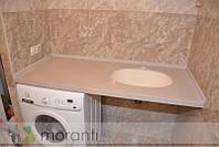 Столешница в ванную из акрилового камня со встроенной мойкой Тристон