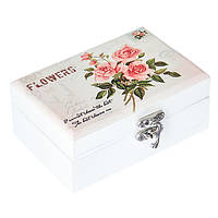 "Деревянная шкатулка с зеркалом ""Flowers"" (12х8х5 см.)"