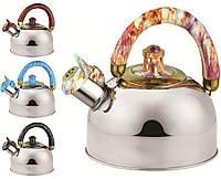 Чайник со свистком BOHMANN  BHL-300 , 2,5л, нержавеющая сталь