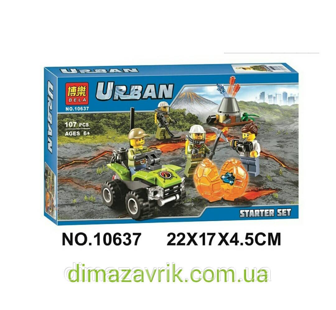 """Конструктор Bela 10637 (аналог Lego City 60120) """"Исследователи вулканов"""", 107 дет"""
