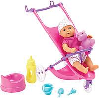 Кукольный набор Пупс Мини NBB с коляской, с аксессуарами (503 0928)
