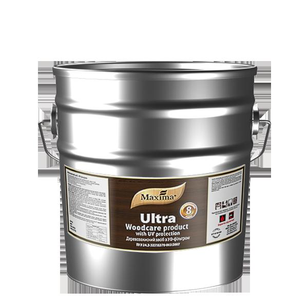 Деревозащитное средство алкидное с УФ-фильтром Maxima, калужница (сосна) 10 л