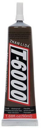 Клей силиконовый T6000 универсальный 50 мл, black (чёрный), фото 2