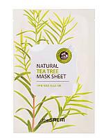 """The Saem Natural Sheet - Тканевая маска с натуральным экстрактом """"Чайное дерево"""", 20 мл"""