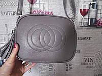 Стильная серая сумка в стиле Gucci