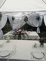 Прокат ткани атлас белый (декор)