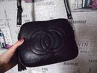 Стильная черная сумка в стиле Gucci