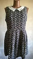 Интересное платье в узор. Pазмер XL.