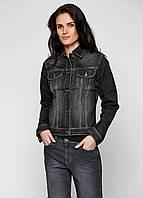 Джинсовая куртка черная женская Gloria