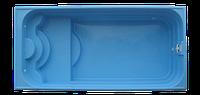 """Стекловолоконный (композитный) бассейн модель """"КЛАССИКА-2"""" 7,40 х 3,50 х 1,10-1,70 м с перепадом глубины)"""