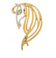 """Подвеска """"Иоланда"""" с кристаллами Swarovski, покрытая золотом с родием (j658q300)"""