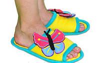"""Прикольные мягкие и очень удобные флисовые тапочки """"Бабочки"""". Любой цвет и размер по Вашему желанию!"""