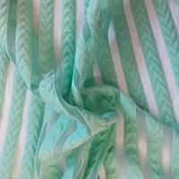 Трикотажная сетка- полоска ( мята) ткань