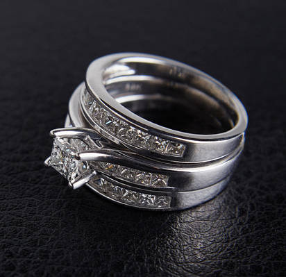 Женское кольцо из белого золота с бриллиантами С31Л1№1
