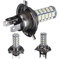 Светодиодная лампа H4 68LED SMD из светодиодов 3528 СМД чистый белый авто источник света туман 3W