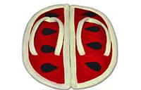 """Прикольные веселые домашние тапочки из флиса """"Арбузики"""". Тапочки для всей семьи - любой цвет и размер!"""