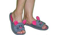 """Прикольные дизайнерские тапочки из мягкого флиса """"Мышки"""" для всей семьи! Любой цвет и размер!"""