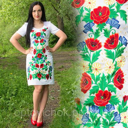 Женское атласное платье с вышивкой, фото 2