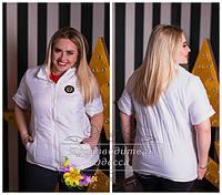 Белая женская  синтепоновая стеганая короткая батальная жилетка. Арт-1356/37