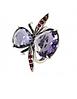 """Кольцо """"Диса"""" с кристаллами Swarovski, покрытое серебром (j1173070) (Безразмер), фото 2"""
