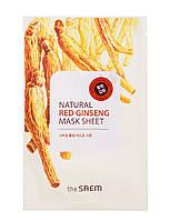 """The Saem Natural Sheet - Тканевая маска с натуральным экстрактом """"Красный Женьшень"""", 20 мл"""