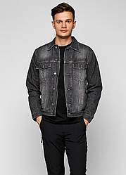 Мужская джинсовая куртка черная Cargo