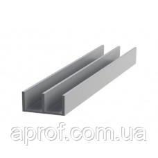 Ш-образный алюминиевый профиль 19х10х2 мм анодированный «серебро»